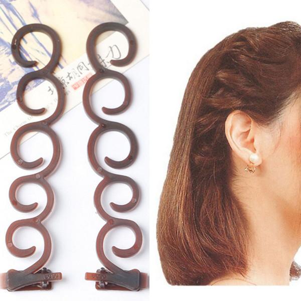Sihirli Saç Twist Şekillendirici Kırkayak Şekillendirme Braid ile Sıcak satış 1 Set Moda Saç Örgü Aracı Silindir DIY Araçlar Klip