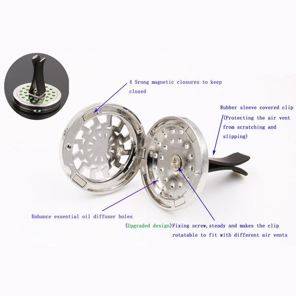 Désodorisant De Voiture Conditionnement Vent De Parfum Clip Strass Diamant Cristal Fleur Désodorisant Diffuseur De Voiture Décoration Intérieure #D