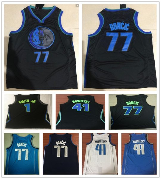 2019 New City Edition Navy Blue 77 Luka Doncic Jersey White Black Stitched  1 Dennis Smith a35c42587