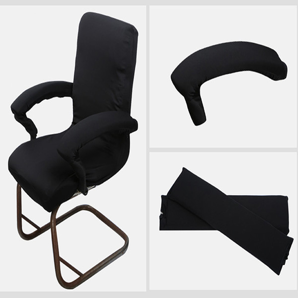 Admirable Stretch Spandex Armrest Covers Removable Polyester Office Computer Chair Armrest Cover Elbow Arm Rest Covering White Dining Room Chair Covers Chair Pabps2019 Chair Design Images Pabps2019Com