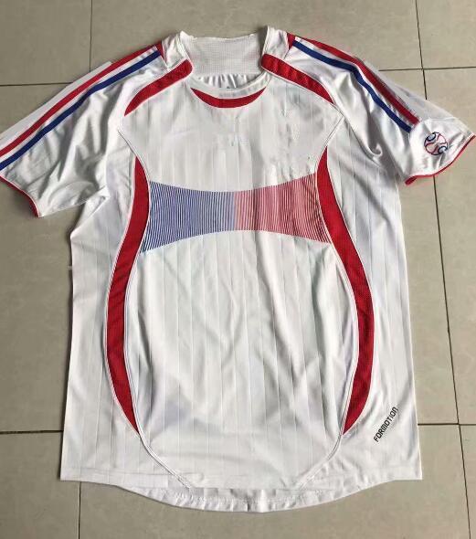 2006 World Cup Retro soccer jerseys white #7 GRIEZMANN #10 MBAPPE football shirt 2006 Soccer National team #13 KANTE football jerseys