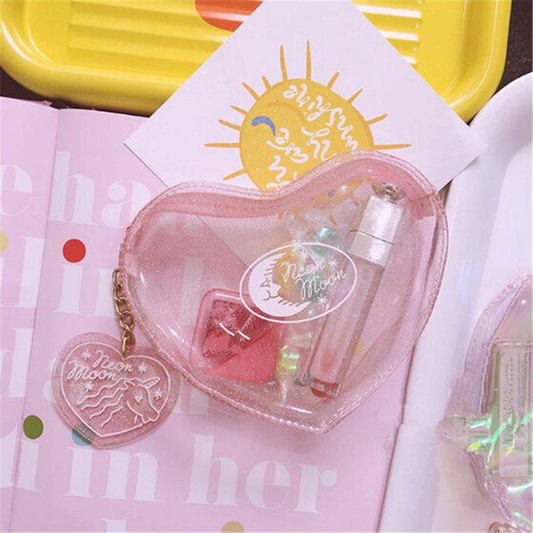 Environmental Protection PVC Transparent Cosmetic Bag Case Women Travel Toiletry Bags Make Up Bags