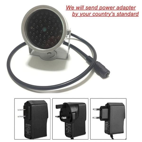 Waterproof No Red Light 48 LED Illuminator Light CCTV IR Infrared 940NM Night Vision Outdoor Metal Lamp For CCTV Camera WIFI Camera