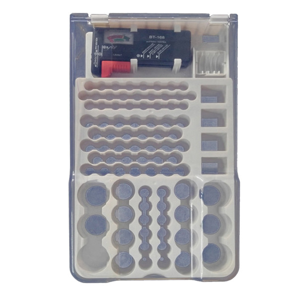 best selling 93Pcs Battery Organizer Storage Case With Removable Tester Various Sizes
