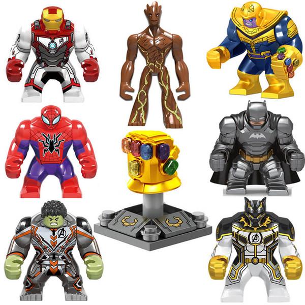 Super Hero Action Figure Avengers Infinity Gauntlet Thanos Energy Stone Gloves Iron Man Hulk Black Pather Batman Spider Man Building Block