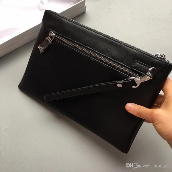 Genuine Leather Clutch Bags Envelope Bag for Phone & Tablet Large Capacity Business Wallet Purse Casual Men Bags