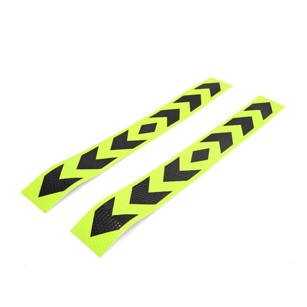 uxcell 2pcs Arrow Pattern Self Adhesive Car Reflective Sticker Decor Black Yellow
