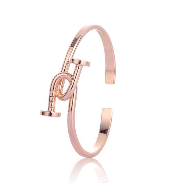 Jewelry Nail Bracelets Love Knot Bangles for Women Men Nail open cuff Bracelets Femme Pulseira Feminina