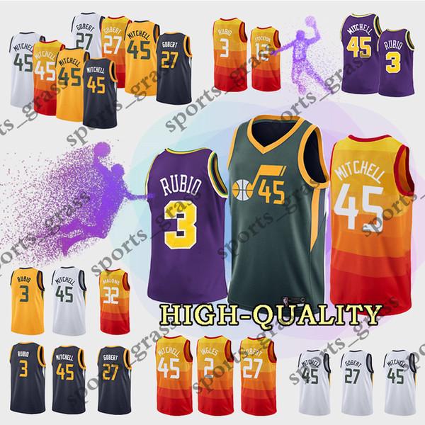 45 Donovan Mitchell jerseys Utah 3 Ricky Rubio 12 John Stockton 27 Gobert  Ingles Grayson Allen 2cd116ad5