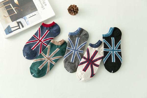 7cbdcbf052f6d mens women designer socks sock Manufacturer Wholesale Cotton Men's British  Flag Summer Boat Socks
