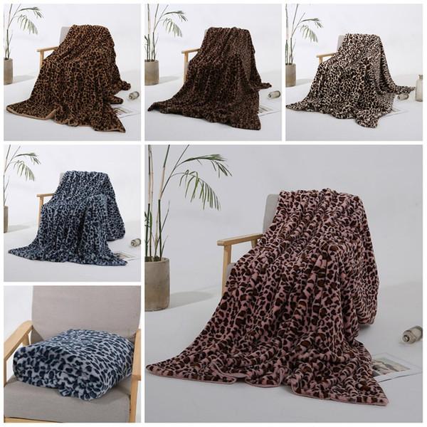 5 style Winter Warm Blanket Throw Blanket Leopard Printing plush baby Blanket Fleece Couch Sofa Homeware T2I5688