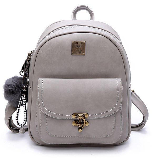 Wild2019 Woman Pu Student Joker Backpack Both Shoulders Package Zipper Ma'am Messenger Single Shoulder Bag