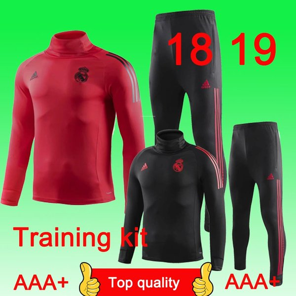 Real Madrid Tracksuit Isco Training Suits 18 19 MODRIC soccer jersey Benzema Bale Madrid Football Shirts free shipping