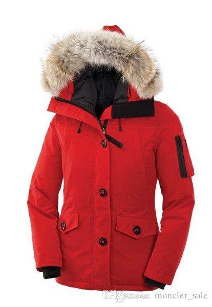 Sale Hiver Thick Warm Windproof Canada Down Coat Thicken Fourrure Hooded Jacket Manteaus Doudoune Women Femme Outdoors Fur Down Jacket