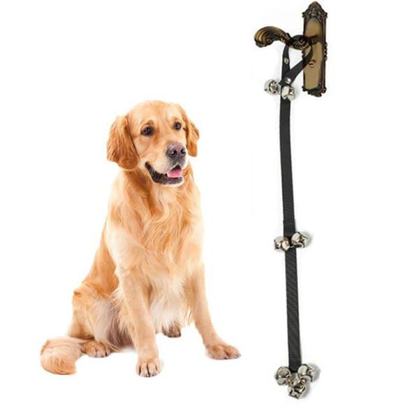 Pet Ürünleri Köpek Eğitim Kapı Zili Zil Halat Pet House eğitim Köpek Lazımlık Eğitimi Kapı Bells Siyah renk