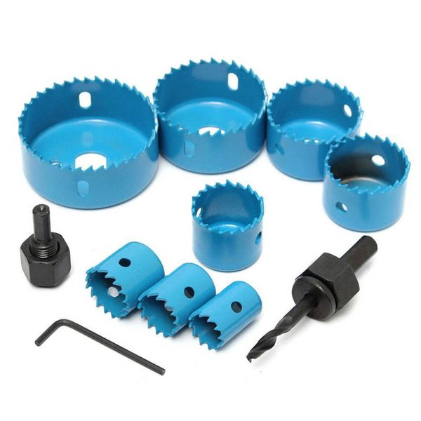 11PCS Carbon Steel Gypsum Board Ceiling Woodwork Hole Saw Cutter Tool Drill Bits