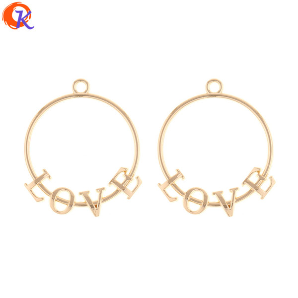 wholesale 100Pcs 30*36MM Jewelry Accessories/Earring Connector/Love Letter Ring Shape/DIY Making/Hand Made/Earring Findings