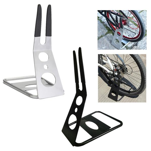 Evrensel Bisiklet Zemin Standı Tutucu Bisiklet Ekran Desteği Üçgen Arka Hub Dağı Bisiklet Depolama Raf # 107120