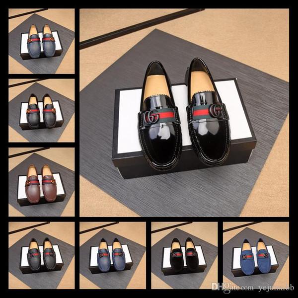 TOP G Marchi italiani scarpe da sera in pelle di lusso della Top scarpe da uomo di partito di nozze in pelle scamosciata mocassini moda scarpe tallone formato 38-46
