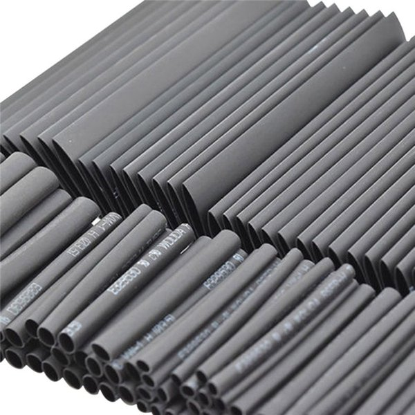 127pc Black Heat Shrink Tube Assortment Wrap Electrical Insulation Cable Tubing