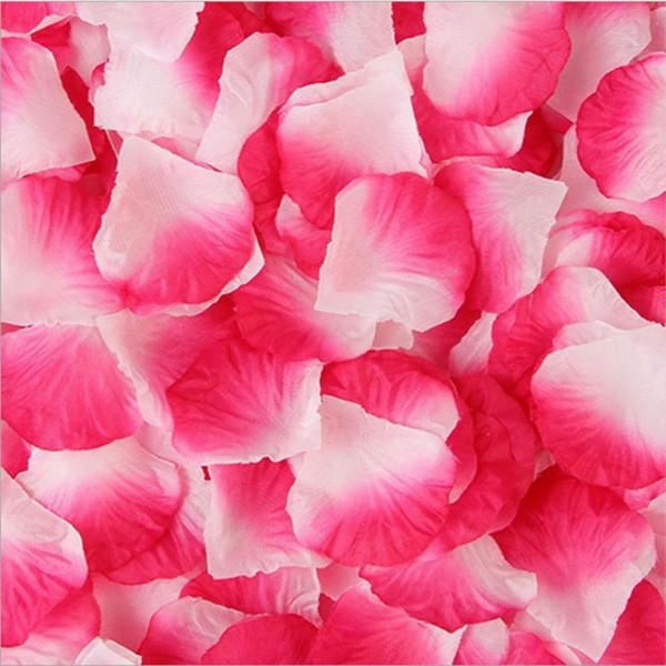 Nueva venta al por mayor 100 unids / pack tela no tejida flores de poliéster decoraciones de la boda de la boda pétalo de rosa flor para el partido decorativo
