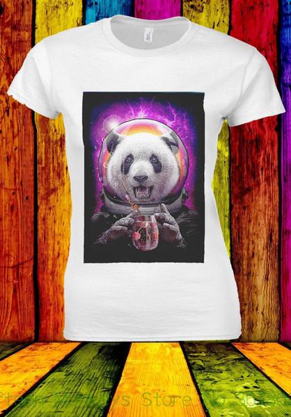 Women's Tee Astronaut Funny Panda Toxic Drink T-shirt Men Women Unisex 539 2018 Summer Female Fashion T Shirt