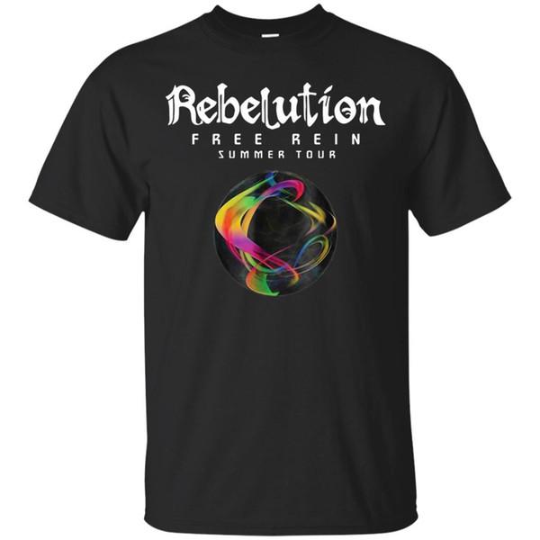 Черная футболка-Rebelution Free Rein Summer Tour футболка для мужчин и женщин размер Discout горячая новая футболка с коротким рукавом плюс размер футболки