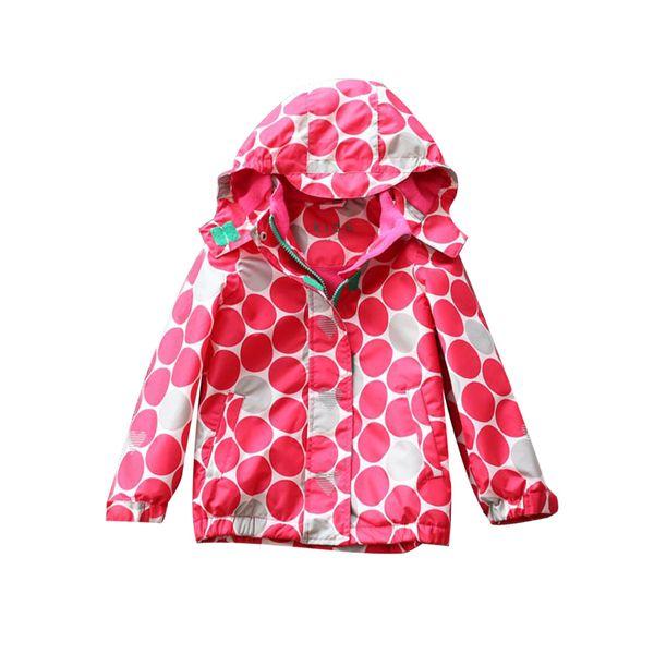 2019 Autumn Winter Children Jackets For Girls Hooded Plus Velvet Waterproof Windbreaker Baby Girls Outerwear Coats Kids Clothes