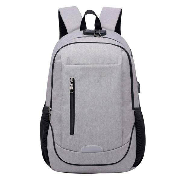 Men Laptop Backpack Business Anti Theft Waterproof Travel Backpack with USB Charging Unisex 2019 New Fashion Bags
