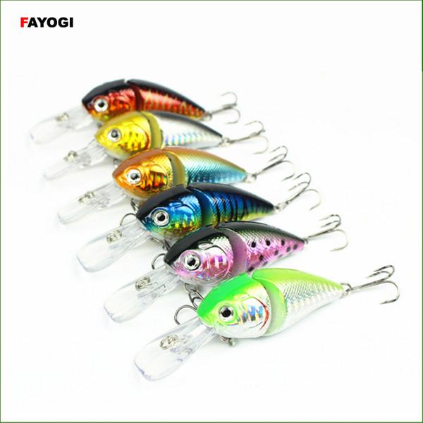 L060B Random Color Mix 6pcs/set Fishing Lures Bait Crank lures 8.5cm/14g/1m