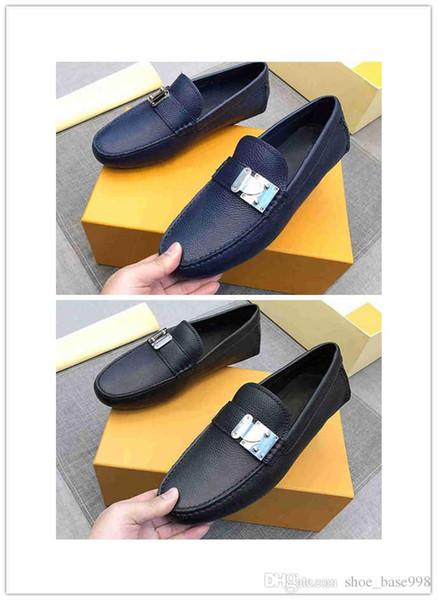 Zapatos de hombre azules y negros de alta calidad. Es en todo el mundo. One-by-on zapatos de cuero de negocios venta caliente