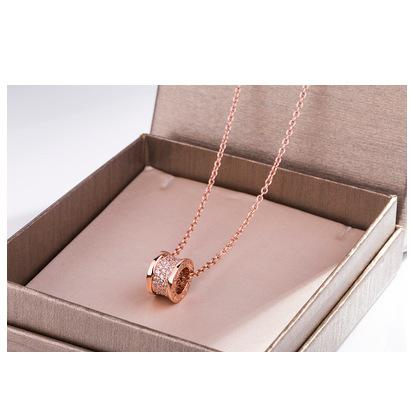 Rose gold+gems in the middle