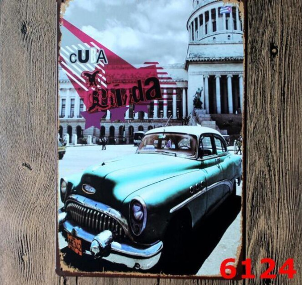 Vintage Metallblechschilder Für Wanddekor London Paris Stadt Sehenswürdigkeiten Eisen Gemälde 20 * 30 cm Blechschilder Tin Plate Pub Bar Garage Hause Decoration2