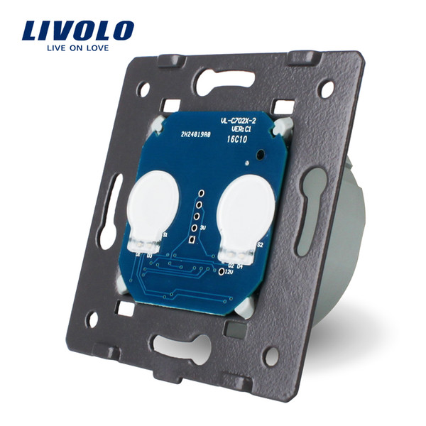 LIVOLO EU Standard, AC 220~250V The Base Of Wall Light Touch Screen Switch, 2Gang Switch 6 Function