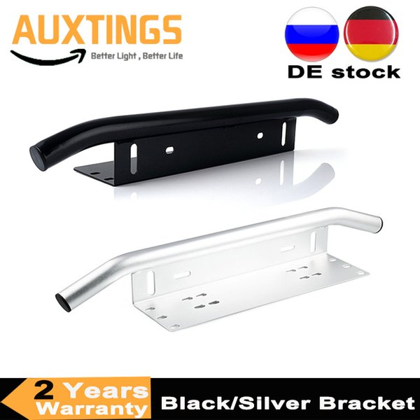 New Arrival Black Silver Aluminum Bull Bar Type Car SUV Bumper License Plate Work Lamp Bracket Kit For Truck Car Offroad 4x4 4WD