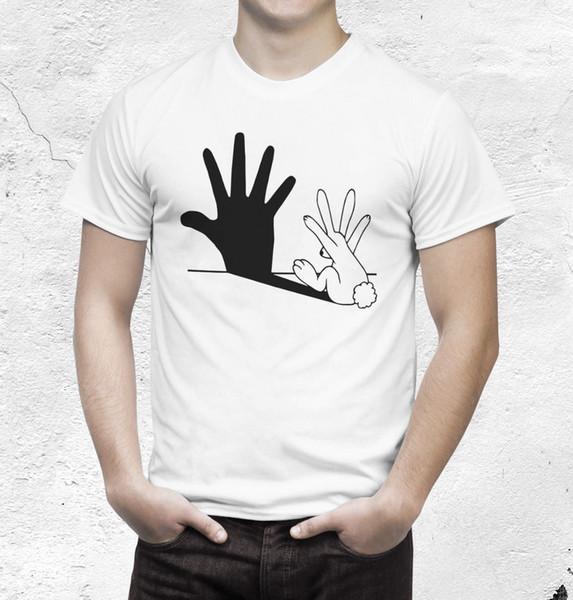 Camisa do coelho T Sombra Fantoche Legal Casual t shirt do orgulho dos homens Unisex Nova Moda tshirt Tamanho Solto top ajax