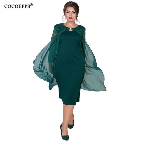 Cocoepps Summer Dress Women 5xl Large Size Dresses Cloak Wrap Bodycon Casual Lady Vestido Big Plus Size Party Elegant Dresses MX190725