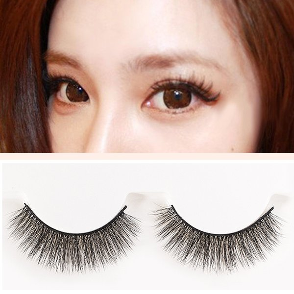 YOKPN Fashion Nude Makeup Eyelash Natural Long 3D Fake Lashes Soft Fiber 3 Pairs False Eyelashes Multilayer Thick Curl Eyelashes