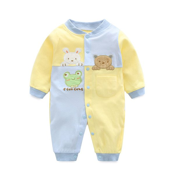 2018 Rompers Cotton Newborn Boys Girls Clothes Infant Roupa Costume Long Sleeve Baby Clothing Set Jumpsuits J190524