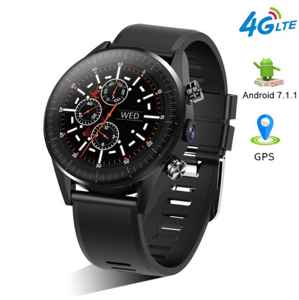 Newly KC05 2019 New 4G Smart Watch Men Android 7.1.1 Quad Core GPS 5MP Camera 610Mah Battery Replacement Strap Waterproof Watch