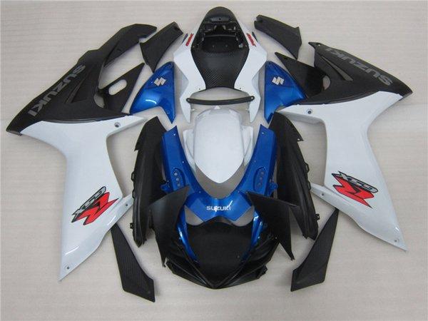 Neues ABS Verkleidungsset passend für SUZUKI GSXR-600 GSXR-750 K11 L1 2011 2012 2013 2014 2015 2016 11 - 16 Verkleidungsset blau weiß schwarz