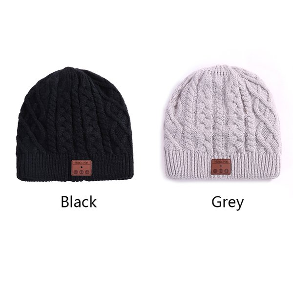 Beanie Earphone Speaker Bluetooth Wireless Hat Stereo Caps Knitted Mic For Outdoor Sports