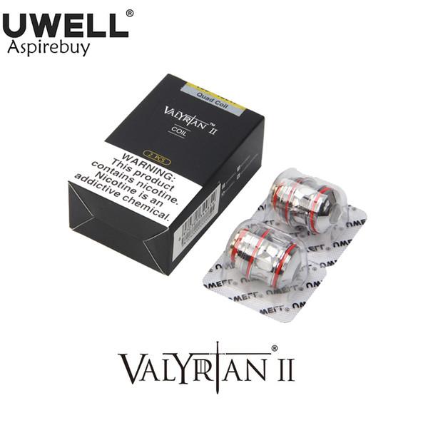 best selling Uwell Valyrian II Coils UN2 Single Meshed Coil 0.32ohm Valyrian 2 Coil For Valyrian II Tank UN2-2 UN2-3 Quadruple 0.15ohm Authentic