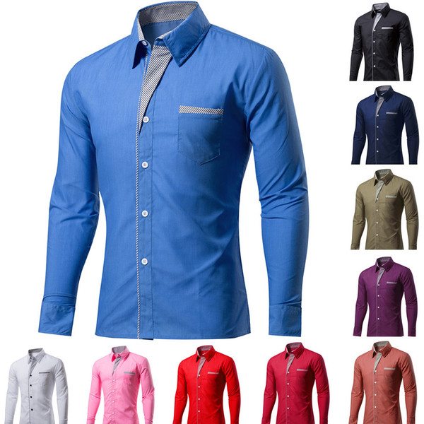 New Fashion Brand Camisa Masculina Long Sleeve Shirt Men Korean Slim Design Formal Casual Male Dress Shirt Plus Size M-4XL