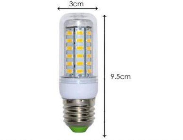 Lampadina led ultra brillante di alta qualità E27 110V SMD 5730 chip 360 fascio di luce led corn lampada di illuminazione 36led