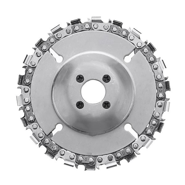 Actualización de acero Disco de cadena de amoladora de 4 pulgadas Disco de talla de madera de 22 dientes para amoladora angular 100/115