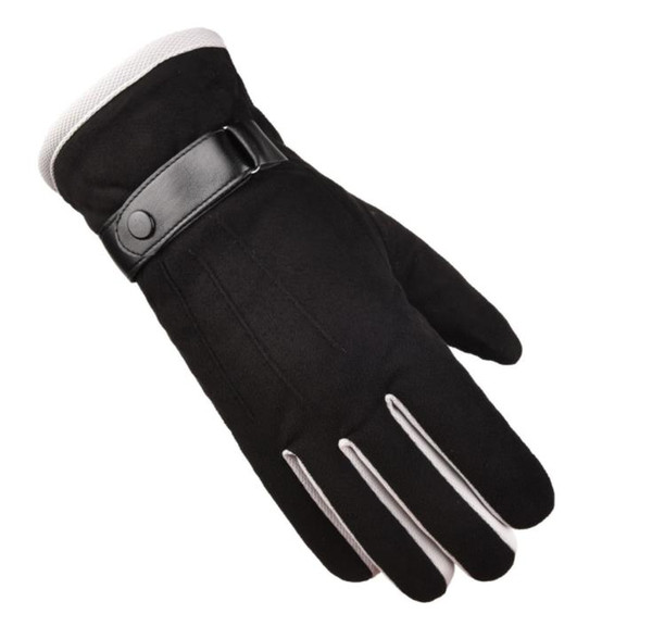 Autumn and winter men's Suede warm gloves wholesale arrow thickened windproof riding gloves