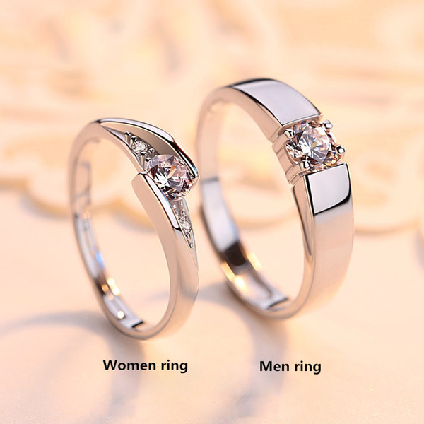 LARGE HAND INCH WEDDING RING,100% 925 Sterling Silver Ring Sets Luxury 0.5 ct CZ Diamant Wedding Rings for Women Engagement Ring