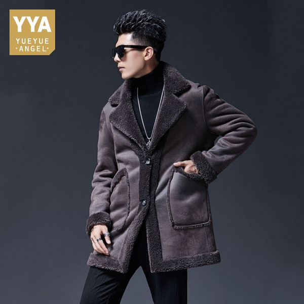 Free Shipping Natural Sheepskin Fur Coat Male Long Genuine Leather Winter Real Fur Overcoat Men Large Size 5XL Shearling Jackets