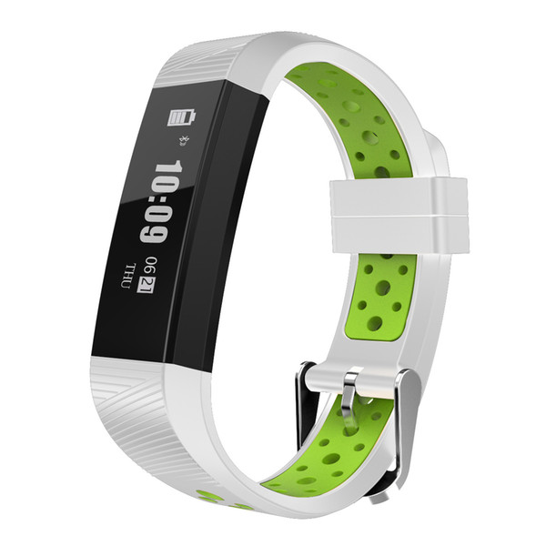 Two-color fashion heart rate sports step-by-step sleep monitoring message push smart bracelet